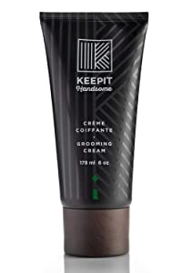 KEEPIT HANDSOME Grooming Cream, Subtle Control, Texture and Definition, 6 oz (178 ml)