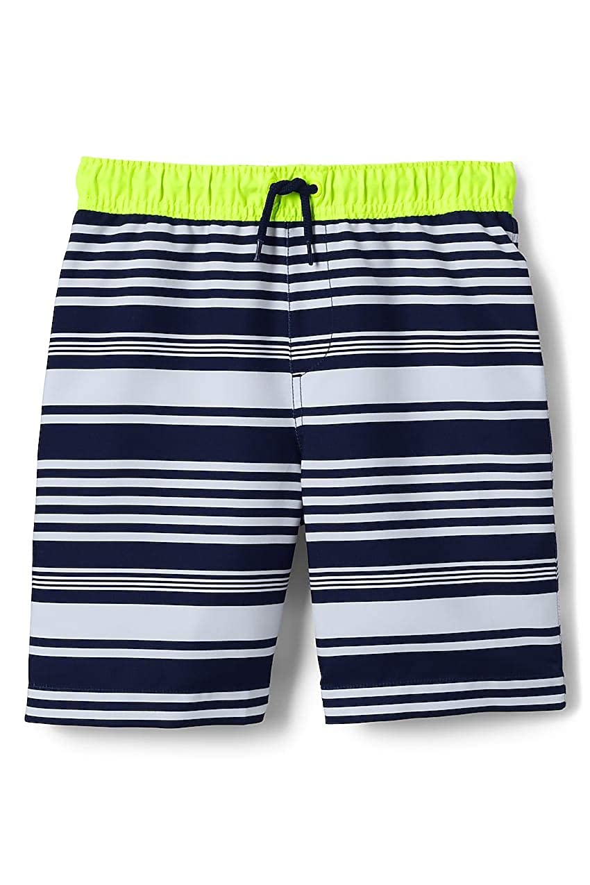 d8222c3674d60 Amazon.com: Lands' End Toddler Boys Print Swim Trunks: Clothing