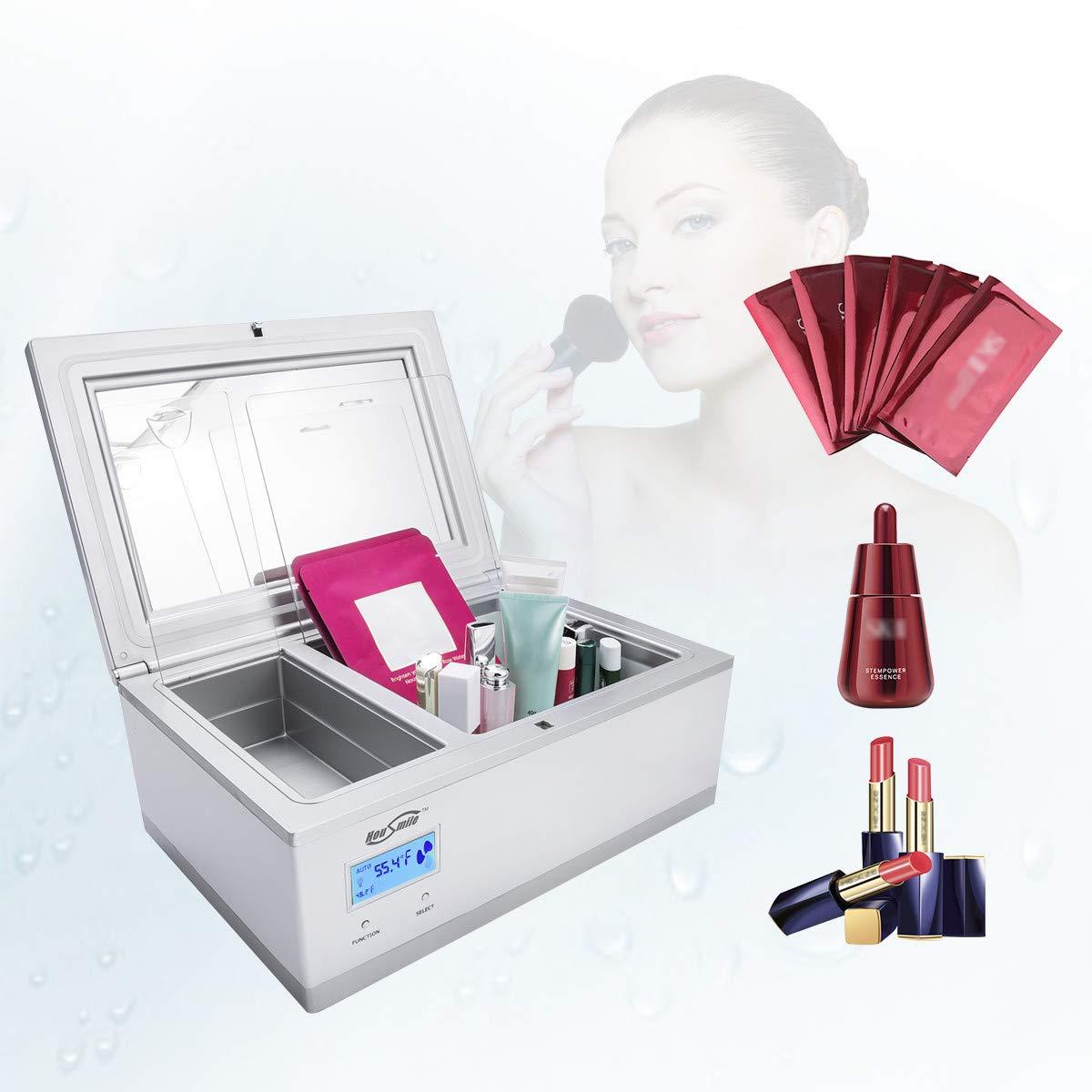 Mini Fridge, Housmile Electric Cooler Mini Refrigerator Thermoelectric Cosmetic Small Fridge for Eye Cream, Facial Mask, Eyeliner, Skin Cream, Organic Cosmetics, 0.1 Cubic Feet(3 Liter)