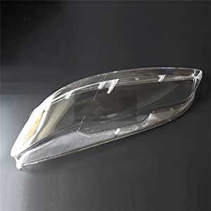 CHEDA 1Pair Headlamp Cover Headlight Lens Fit for Mazda 6 2003-2008 2004 2005 2006 2007 Front Driver and Passenger Side Clear ABS Material