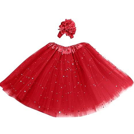 e39f659277731 Longra Robes bébé Fille Jupon Tutu Jupe de Danse Robes Fille Jupes Fille  Robes bébé Fille Filles Tutu Tulle Vêtements de Danse Fille Jupes Fille   Amazon.fr  ...