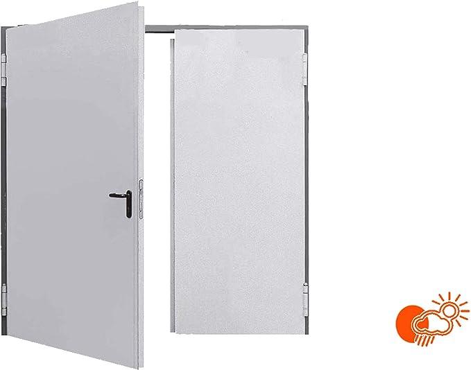 2250 x 2250 izquierda, Aislamiento 62 mm, puerta multiusos, puerta de garaje, 2 hojas de Teckentrup: Amazon.es: Bricolaje y herramientas