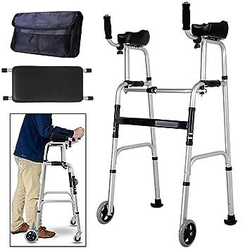 Andador estándar para personas mayores, plegable y ajustable ...