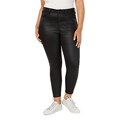 Celebrity Pink Trendy Plus Size Coated Skinny Jeans at Women's Jeans store
