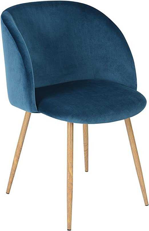 Set of 2 Silky Velvet Fabric Dining Chair Home Office Lounge Accent Chair
