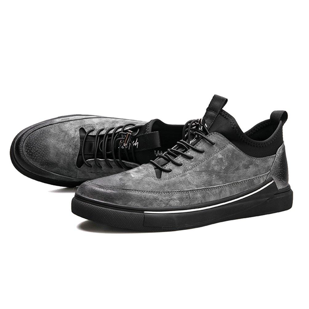 Herren Frühling Herbst Casual Leder Leder Casual Turnschuhe Männer Gummi Non-Slip Schuhe Fashion Lace up Atmungsaktive Männer Fahren Schuhe Wohnungen Schuhe 49040d