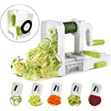 Midas 5-Blade Vegetable Slicer,Vegetable Spiralizer,Folding,Strongest-and-Heaviest Duty, Best Veggie Pasta and Spaghetti Maker for Low Carb/Paleo/Gluten-Free Meals