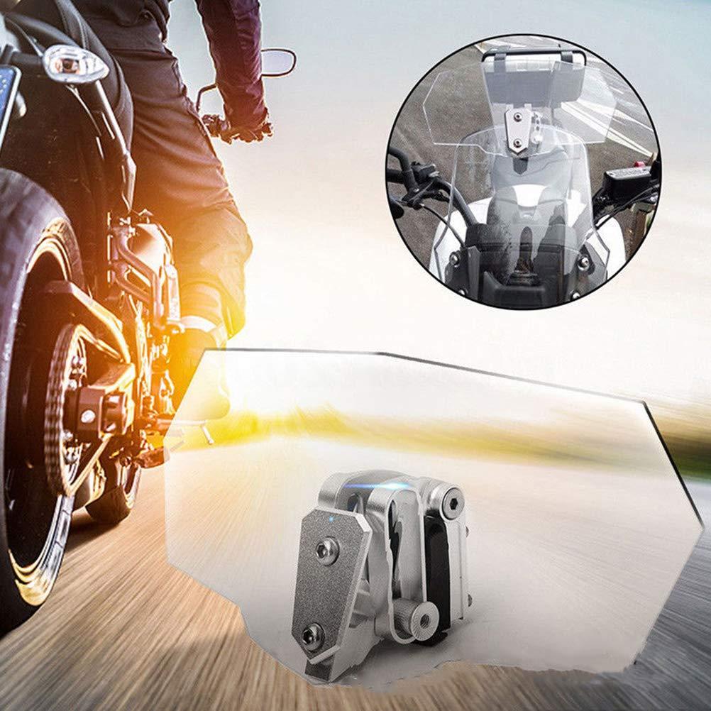Motorrad Windschutzscheibe Universal Einstellbare Transparente Motorrad Windschutzscheibe Windabweiser f/ür Kawasaki Honda Harley Davidson Suzuki Yamaha KTM
