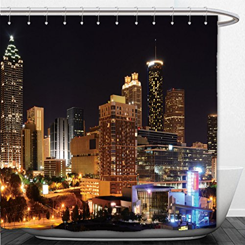 Interestlee Shower Curtain modern architecture in downtown atlanta georgia usa - Macys Downtown In