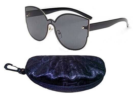 54c2f969701 Amazon.com  I M KING Fashion Mirror Sunglasses High-end UV400 (Black ...