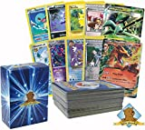 Golden Groundhog 100 Pokemon Card Lot - Featuring Fan Favorites and Legendary Pokemon - Pikachu, Charizard, Greninja and More