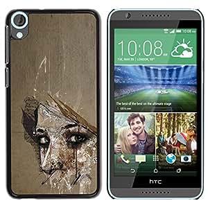 iKiki Tech / Estuche rígido - Meaning Woman Look Eyes Wonder - HTC Desire 820