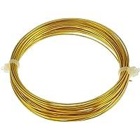 voolex 18 Gauge Brass Imitation Jewellery Wire, 1 mm (Golden)