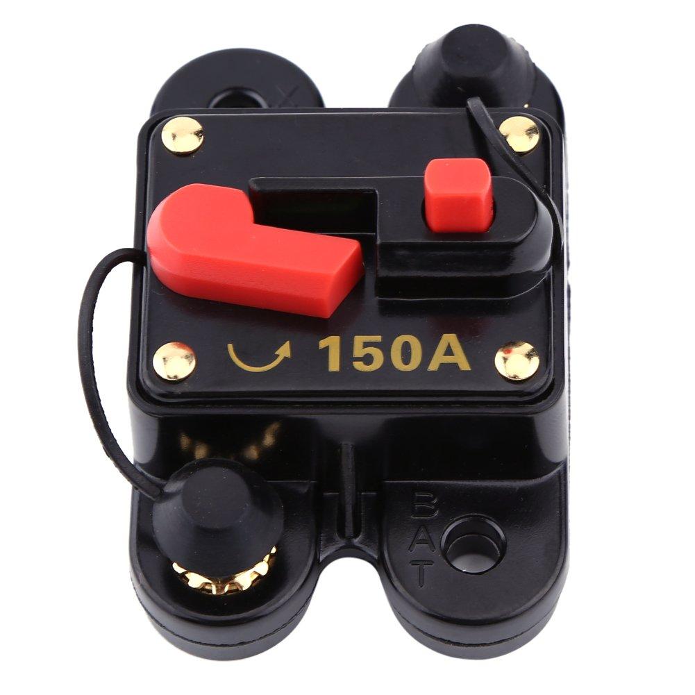 12V-24V 80-300A DC Coche Auto Marine Bicicleta Esté reo Audio Interruptor de Circuito Restablecer Fusible(150A) Walfront