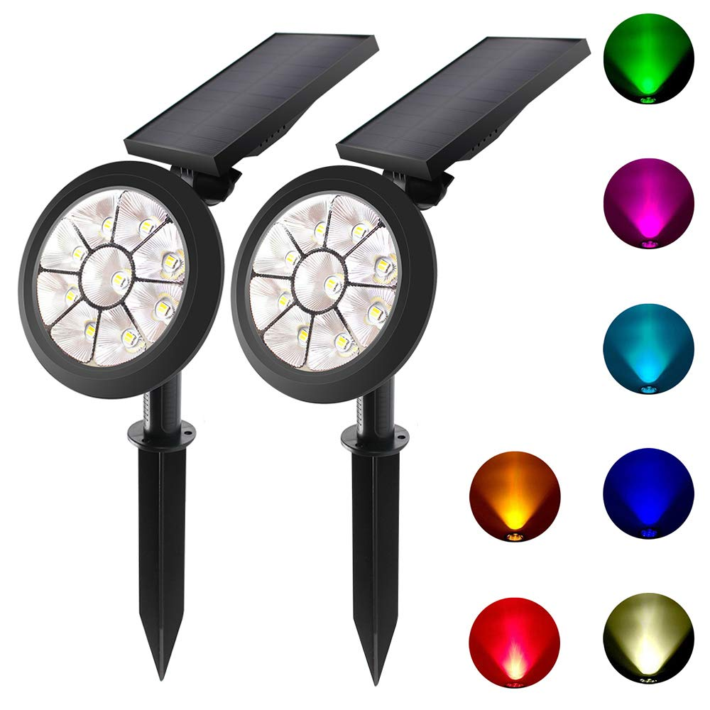 Solar Lights 2-in-1 Waterproof 9 LED Solar Outdoor Adjustable Wall Light
