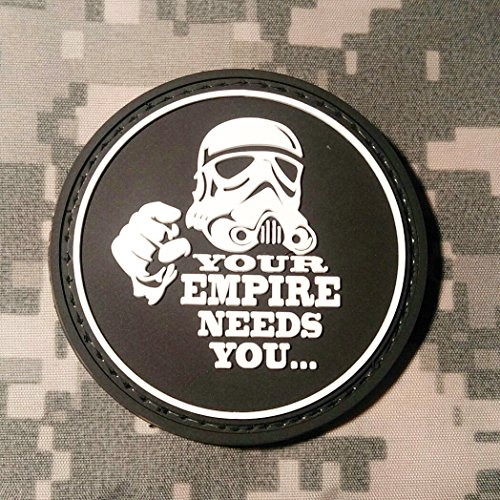 Your Empire Needs You Star Wars PVC Rubber Morale Patch by NEO Tactical Gear Morale Patch - Hook Backed (Black & White)]()