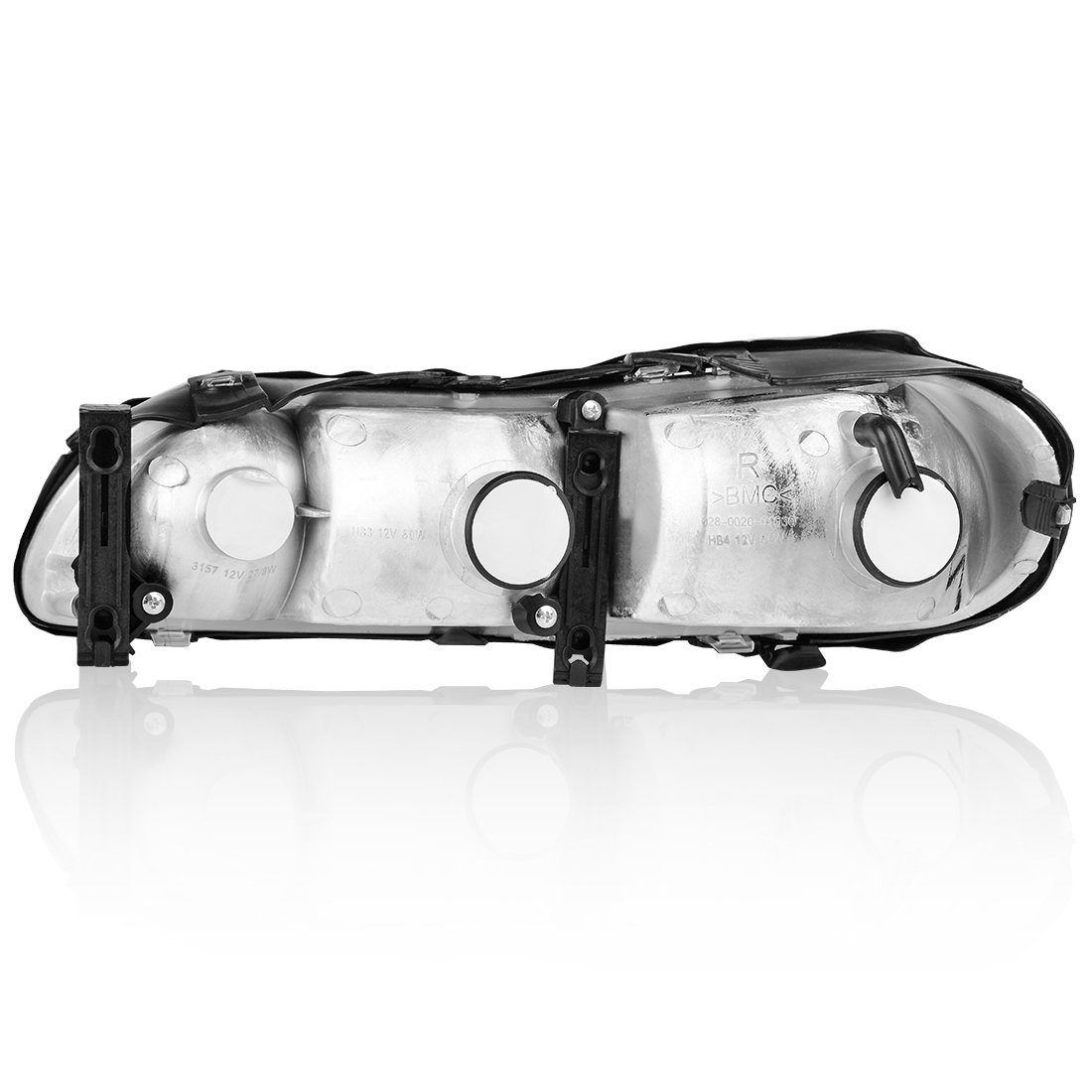 100W Halogen 6 inch Driver side WITH install kit -Black 2006 Union City Body W52 High Corner mount spotlight