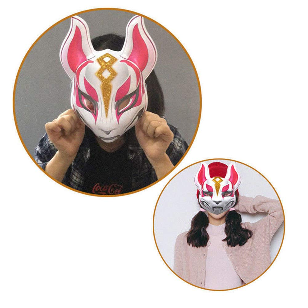 vpuquuz Fox Mask Party M/áscara de l/átex de Halloween Drift Fox para Hombre Mujer M/áscaras del Partido del Regalo del Traje de Cosplay de Halloween
