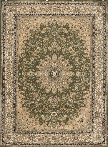 Sage Traditional Rug - Sage Green Traditional Isfahan Dunes High Density 1 Inch Thick Wool 1.5 Million  Point Persian Area Rugs 5'2 x 7'3
