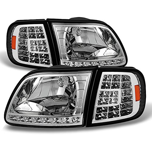For Ford F150 F250 Light Duty Heritage Expedition OE Replacement LED Headlights Corner Lamps LH/RH -