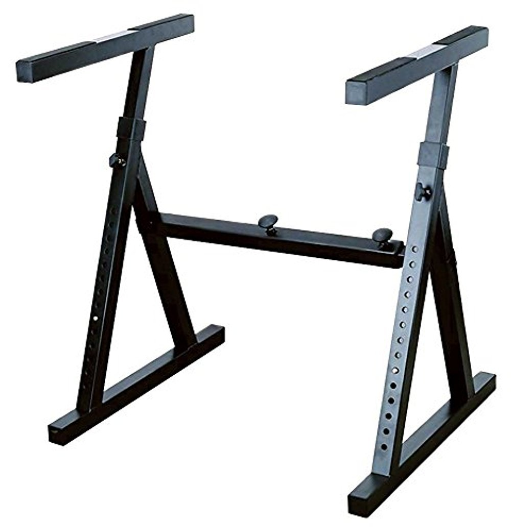 Stellar Labs 555-13830 Heavy Duty Keyboard Stand with Adjustable Width and Height