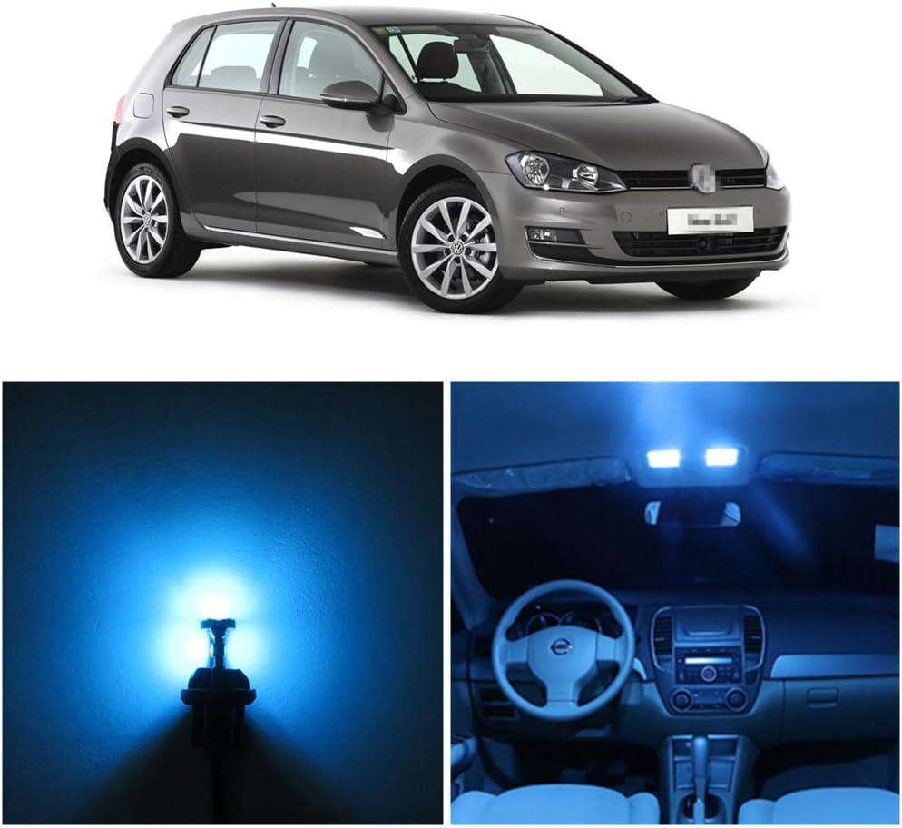 WLJH 12pcs Ice Blue T10 42mm Wedge W5W 194 168 Car Interior Dome Map LED Light Lamp Bulbs Door Courtesy
