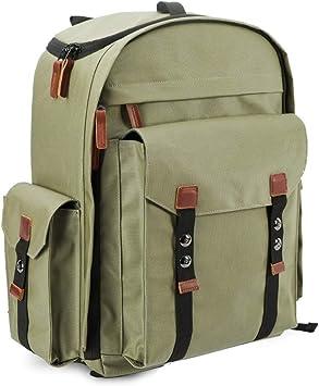 Professional Camera Backpack Waterproof Shoulder Photography SLR Digital Camera Bag Backpack Digital SLR Camera Storage Bag Color : Khaki