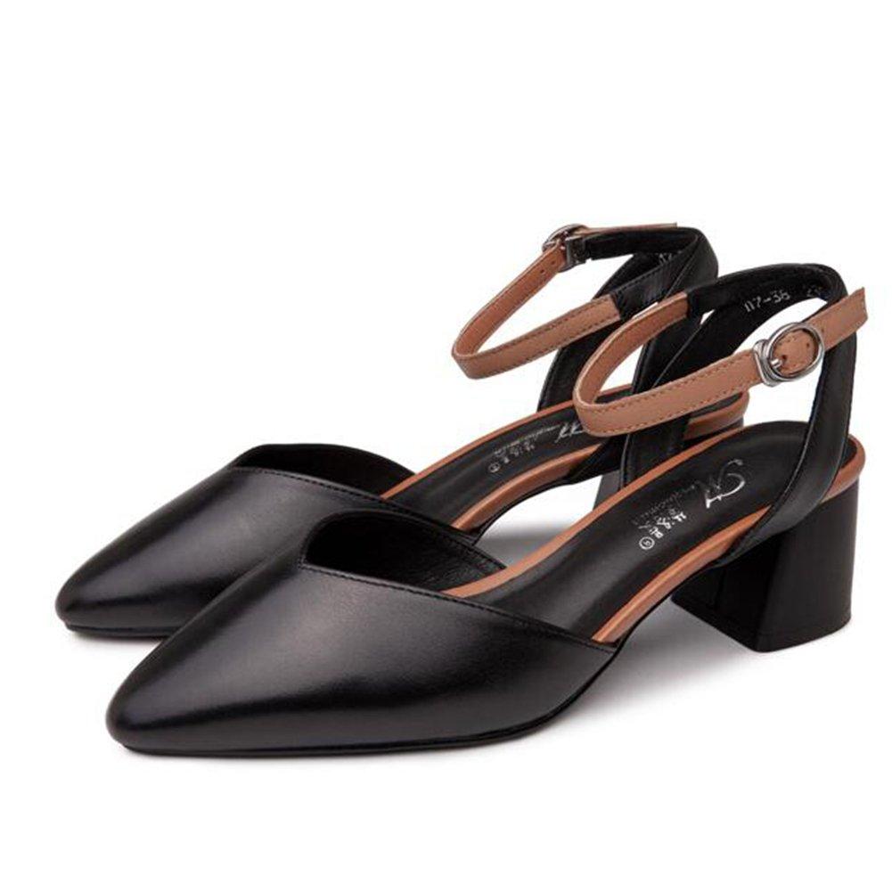 QIDI-Sandale Sommersaison Frau Modisch Weiß Schwarz Weiß Modisch Einzelne Schuhe (Farbe : Schwarz, größe : EU39/UK6.5) Schwarz 51c86e
