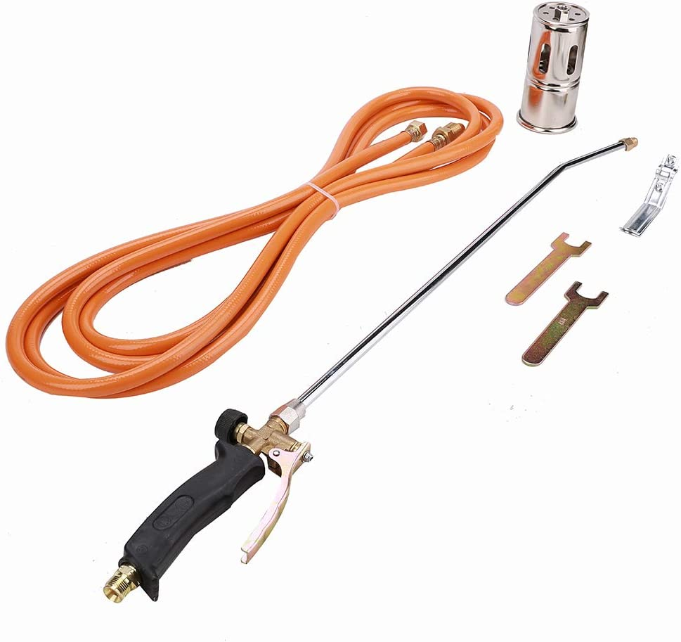 Portable Brass Propane Heating Torch Kit for Burn Weeds, Roofing, Heating, Melt Snow, Remove Paint from Non-flammable Surfaces and Many Other Applications