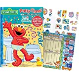 "Elmo's Sesame Street ""Potty Time"" Coloring and Activity Book with Over 30 Stickers, Full Color Check List and ""Potty Time Progress Chart"""