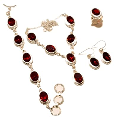 e1569f46d9cd Buy Wonder Jewellery Women s German Silver Jewellery Sets With Dark Maroon  Colour Online at Low Prices in India