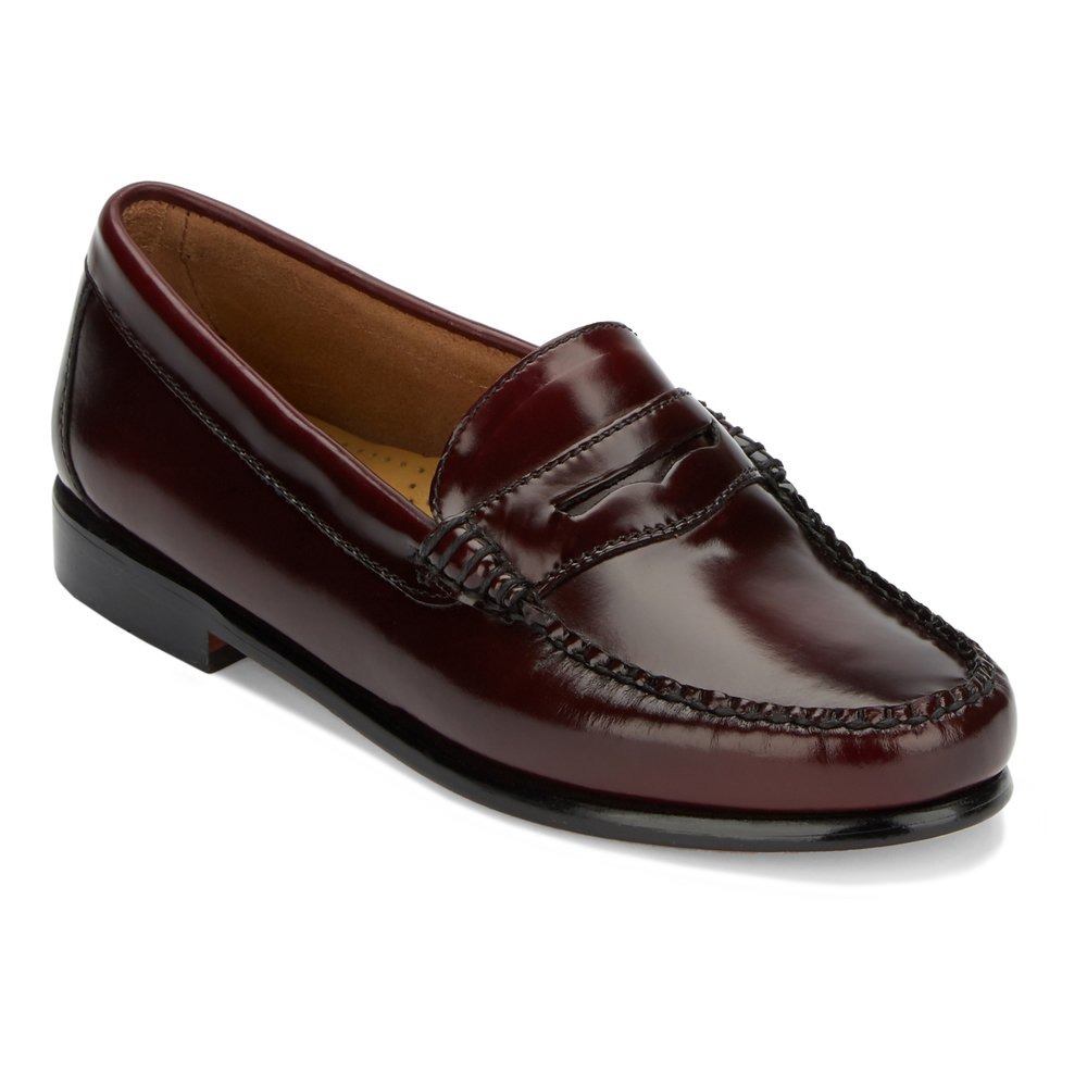 G.H. Bass & Co. Women's Whitney Penny Loafer,Cordovan Box Leather,US 8.5 W
