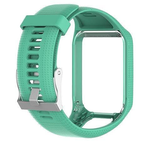 lokeke TomTom Runner 2 Smart Watch Reemplazo Banda de silicona, para TomTom Runner 2, Tomtom Adventurer, TomTom Golfista 2, Tomtom Runner 3, TomTom ...
