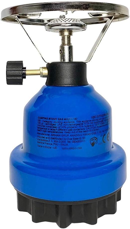 FGC Hornillo de gas de camping con cartuchos estándar de 190 ...