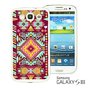 OnlineBestDigital - Flower Pattern Hardback Case for Samsung Galaxy S3 III I9300 - Purple Pink Aztec Geometric Pattern