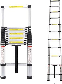 3,2M Teleskopleiter Mehrzweckleiter f/ür Dachboden//Kletterdach//B/üronutzung//Baujob Rutschfester Klappleiter Stehleiter Mehrzweckleiter Aluminium 150 kg//330 Pfund Belastbarkeit