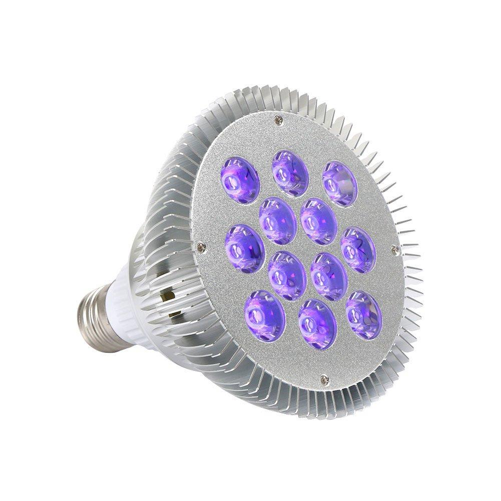 OPPSK 36W Black Lights Bulbs with 12LEDs UV Bulbs, UV Spotlight E27 Medium Base