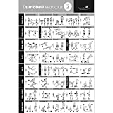 "DUMBBELL EXERCISE POSTER VOL. 2 LAMINATED - Workout Strength Training Chart - Build Muscle Tone & Tighten - Home Gym Weight Lifting Routine - Body Building Guide w/ Free Weights & Resistance - 20""x30"""