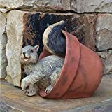 6 in. Squirrel in Pot and Baby Fox in Pot Animal Home and Garden Figurines (2 Piece Set)