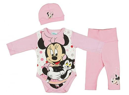 2er SET Minnie Mouse Maus Spieler 62 68 74 80 Strampler Langarmbody Body Baby