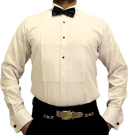Camisa de diseño para hombre esmoquin entallada, gemelos con ...