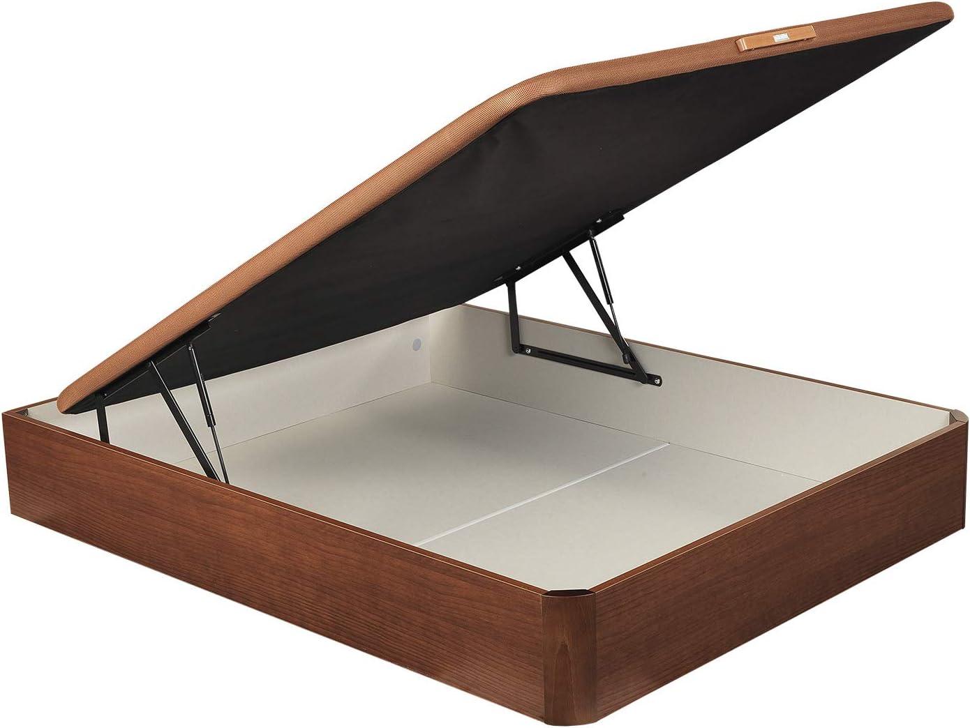 PIKOLIN, canapé abatible de almacenaje Color Cerezo 150x190, Servicio de Entrega Premium Incluido