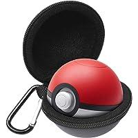 leegoal Pokeball Plus étui de Transport, Eacute;tui de Protection Portable Sac d'accessoires avec Porte-clés pour Lets Go Evoli Pokeball Plus, Pokemon Laisse Aller Pikachu Poke Ball Plus