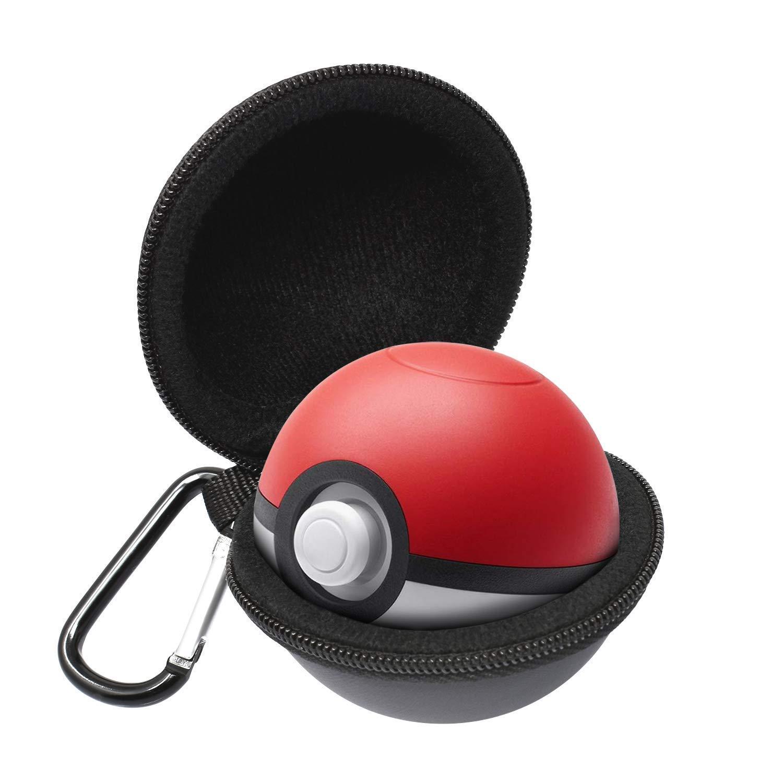 leegoal Tasche für Poke Ball Plus, Portable Case Accessory Bag mit Keychain für Lets Go Eevee Pokeball Plus, Pokemon Lets Go Pikachu Poke Ball Plus