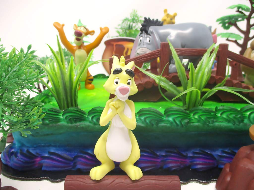 Winnie the Pooh Deluxe Cake Topper Set Featuring Pooh Bear and Friends Figures and Decorative Themed Accessories by Cake Topper (Image #2)