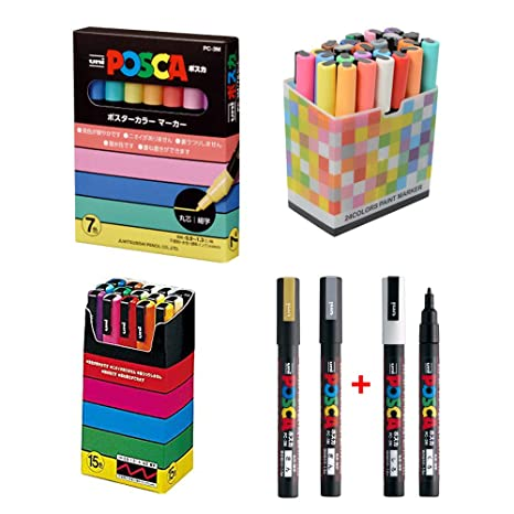 Amazon.com: Uni Posca - Rotulador para pintura (punta media ...