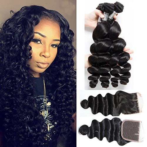7A-Brazilian-Virgin-Hair-Loose-Wave-3-Bundles-With-Closure-Unprocessed-Human-Hair-Extensions-Loose-Weave-Natural-Color-Hair-Bundles-With-Lace-Closure