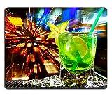 MSD Mouse Pad de goma natural mousepad imagen de jugo de bebida fría Hielo Alcohol Vaso Cóctel Cool Cal Bar Bebidas Sweet Frescura de limón verde