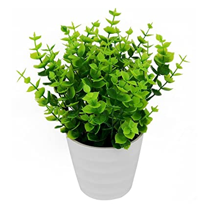 SunAngel Artificial Plants Artificial Potted Simulation Plant Potted Indoor  Green Plant Small Bonsai Pastoral Living Room
