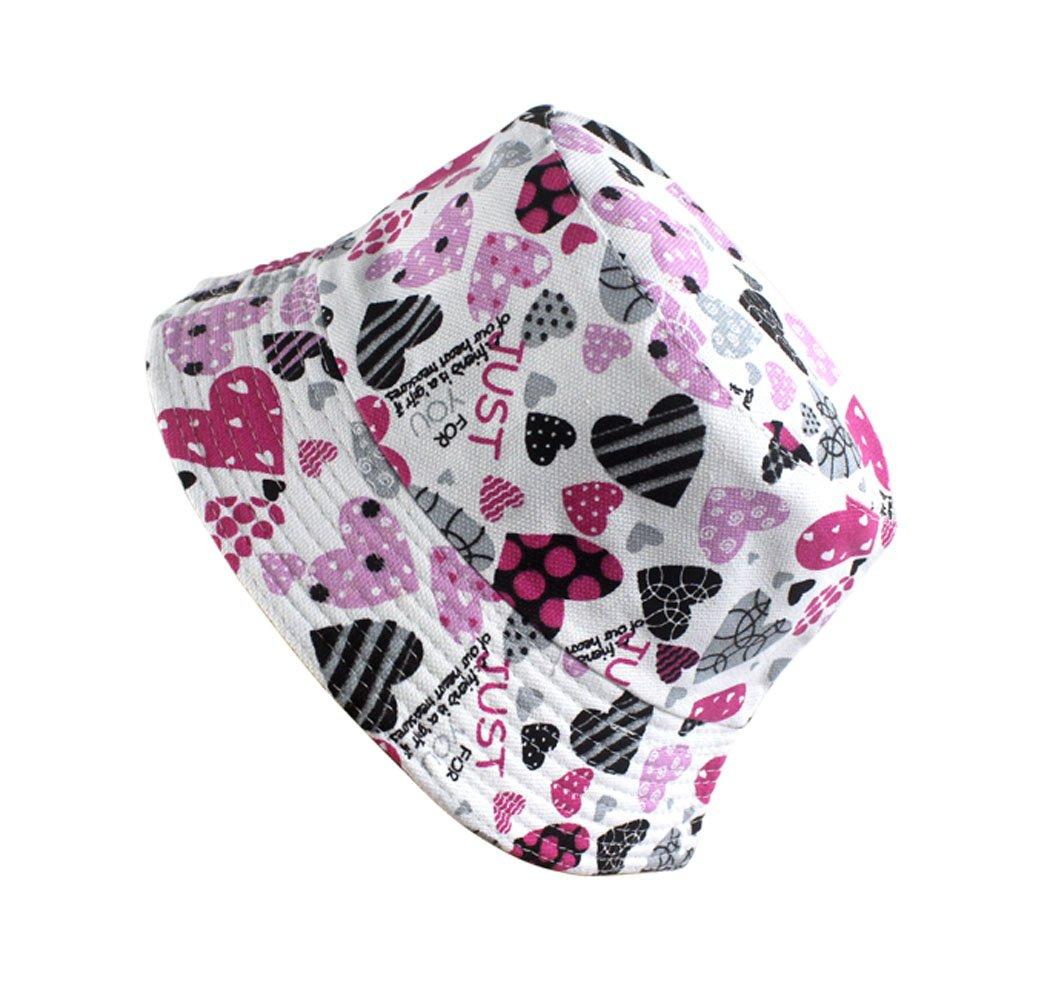 Hillento colorido unisex-beb/é ni/ño peque/ño pescador cubo sombrero ancho borde sombrero de protecci/ón del sol cereza